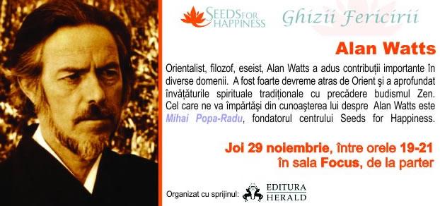 Alan Watts: ghizii fericirii