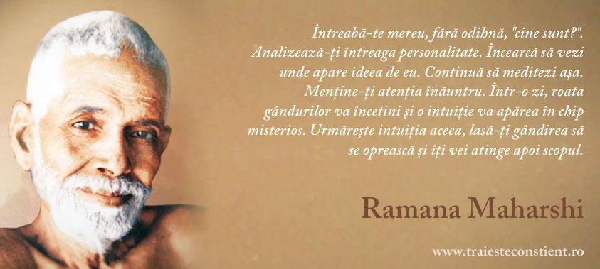 citate despre intuitie Citat Ramana Maharshi: Întreabă te mereu, fără odihnă citate despre intuitie