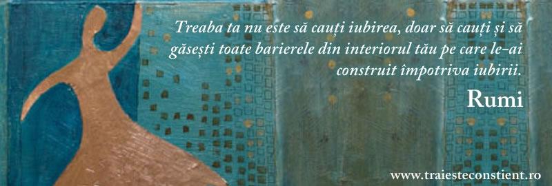 rumi citate Citat Rumi: Treaba ta nu este să cauți iubirea, doar să rumi citate
