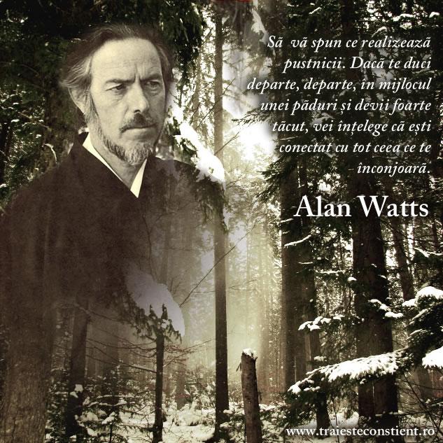 citate despre padure Citate Alan Watts: Să vă spun ce realizează pustnicii. Dacă citate despre padure